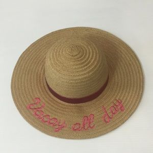 VACAY ALL DAY! Straw Sun Hat LIMITED TOO! NEW